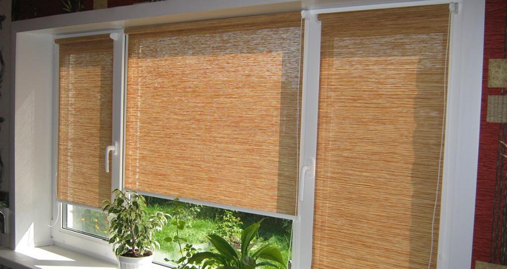 Рулонные шторы после установки