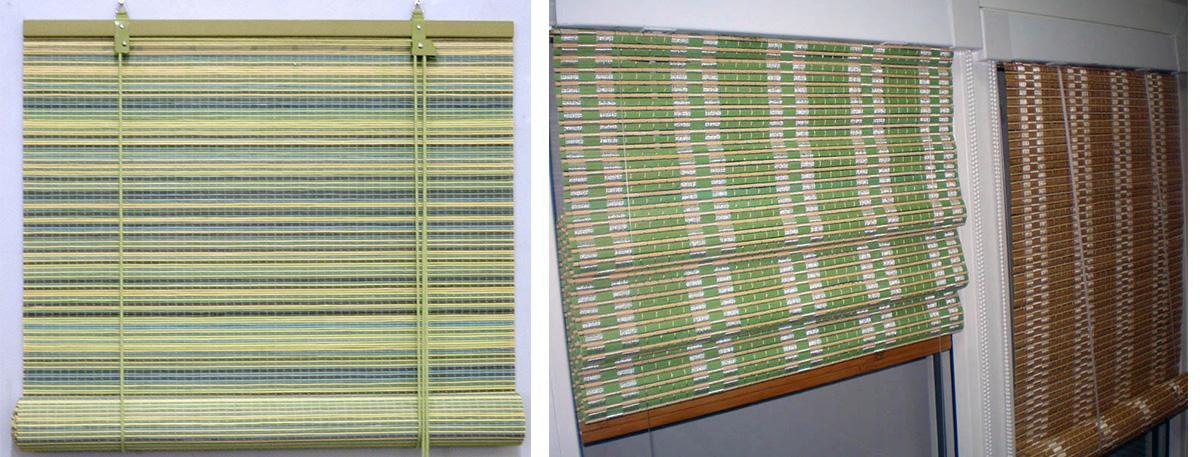 Виды рулонных штор из бамбука