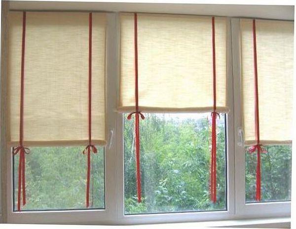 рулонные шторы самостоятельно из ткани