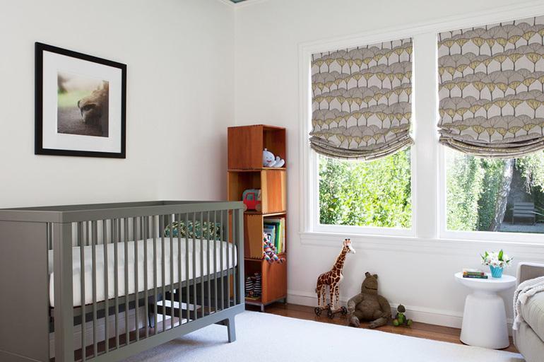 Римские шторы для новорожденного