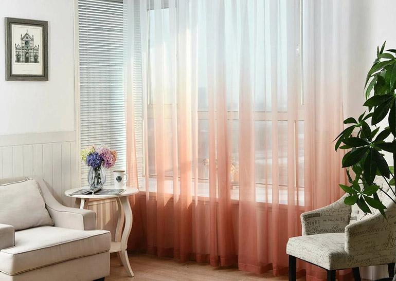 Тюль в разных комнатах