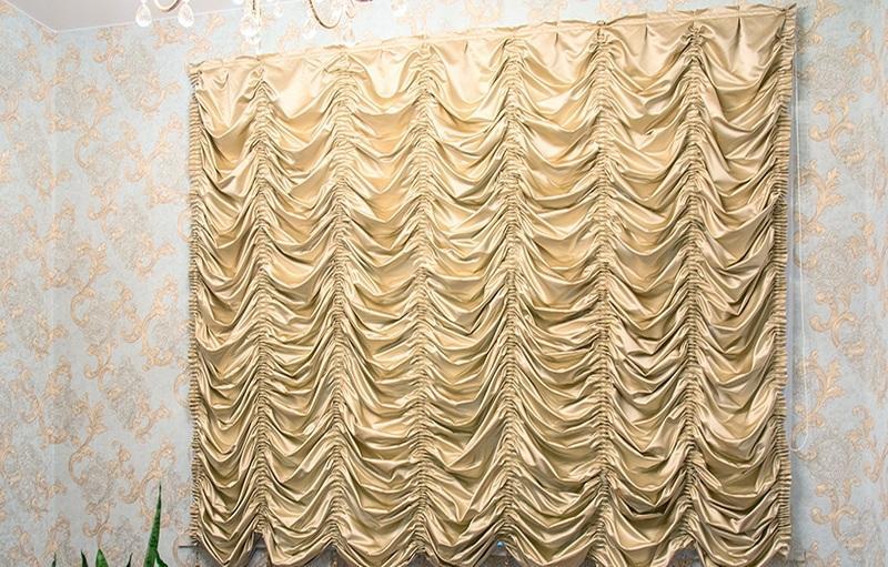 Короткие французские шторы