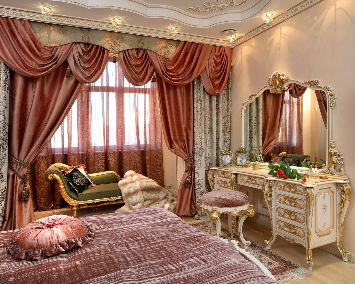 Стиль барокко в интерьере спальни