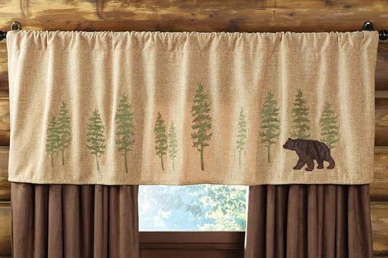 Деревенские шторы