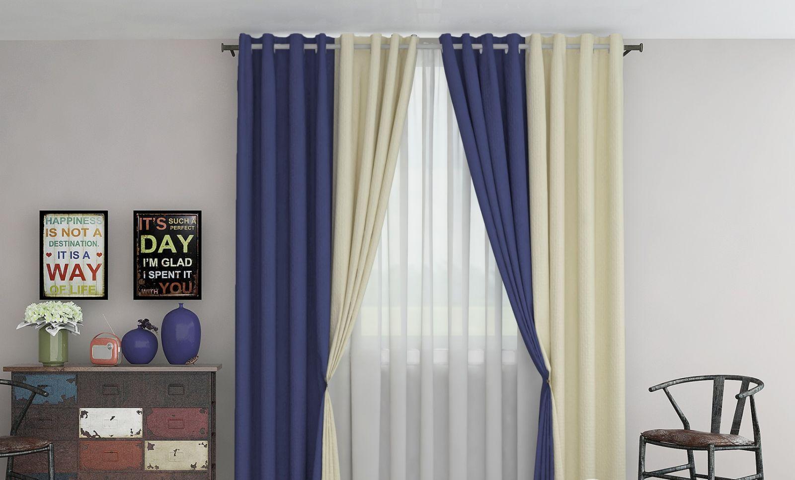 Двухцветные однотонные шторы