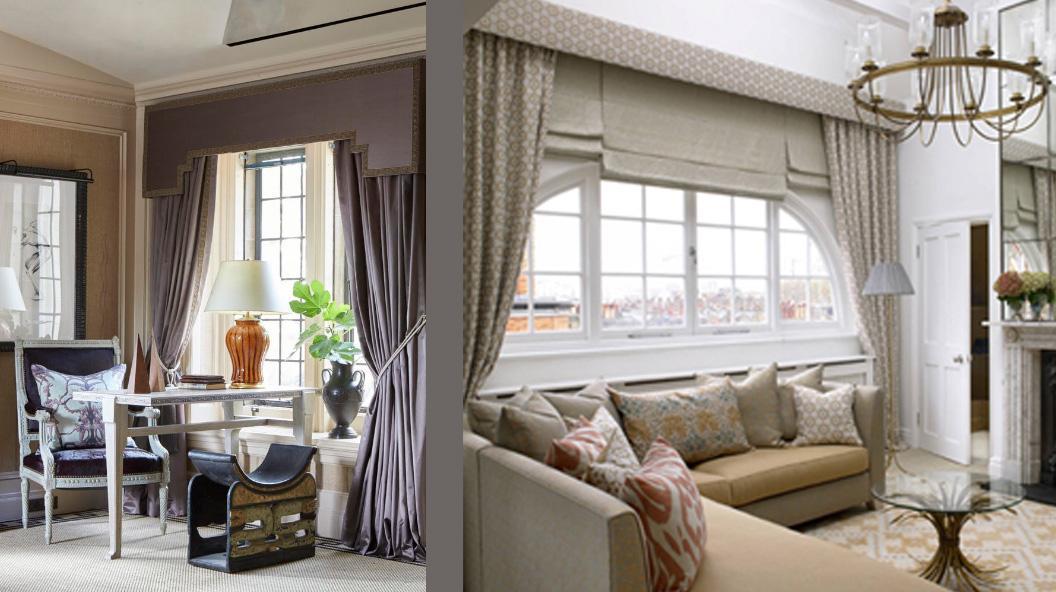 Варианты оформления окон в гостиной неоклассического стиля