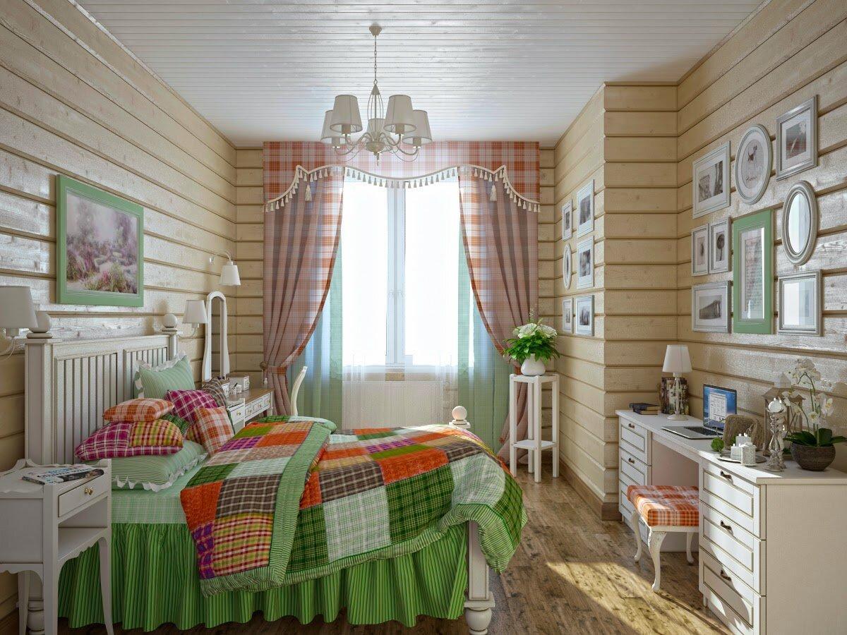 Оформление спальни в деревенском (кантри) стиле