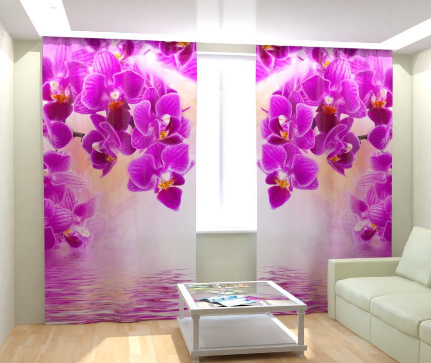 Фотошторы с орхидеями