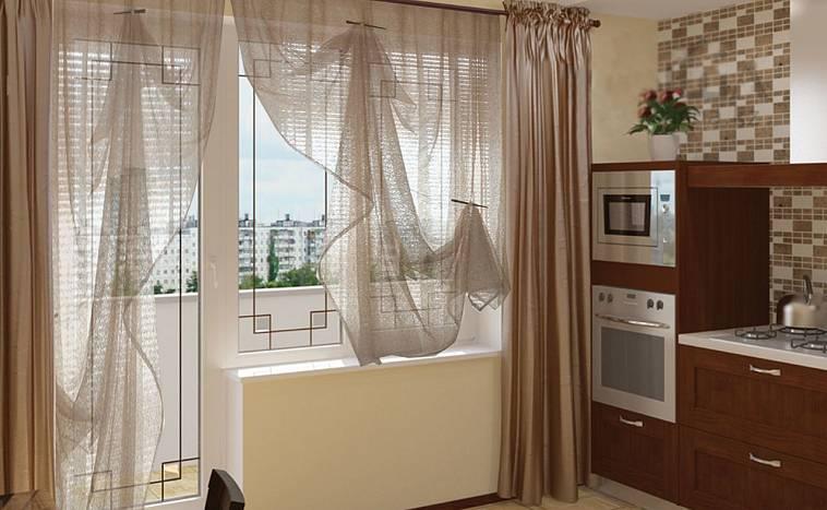 На кухню с балконом