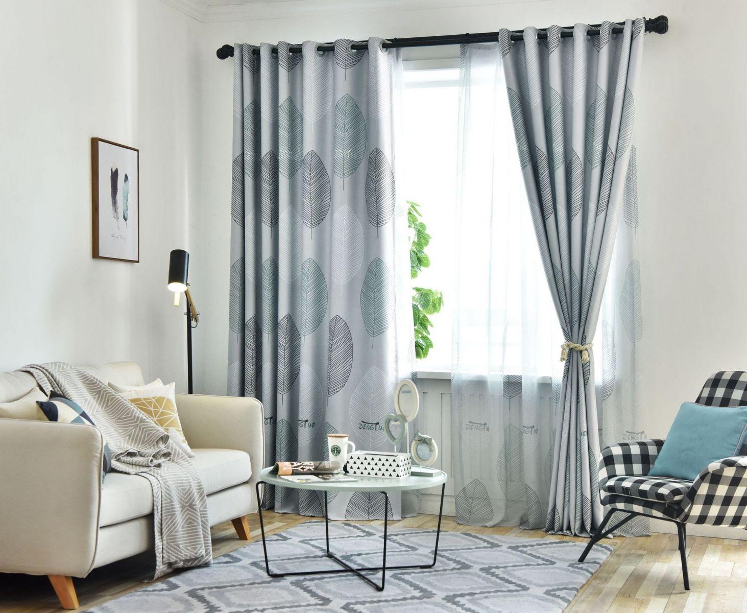 Скандинавские шторы в гостиную