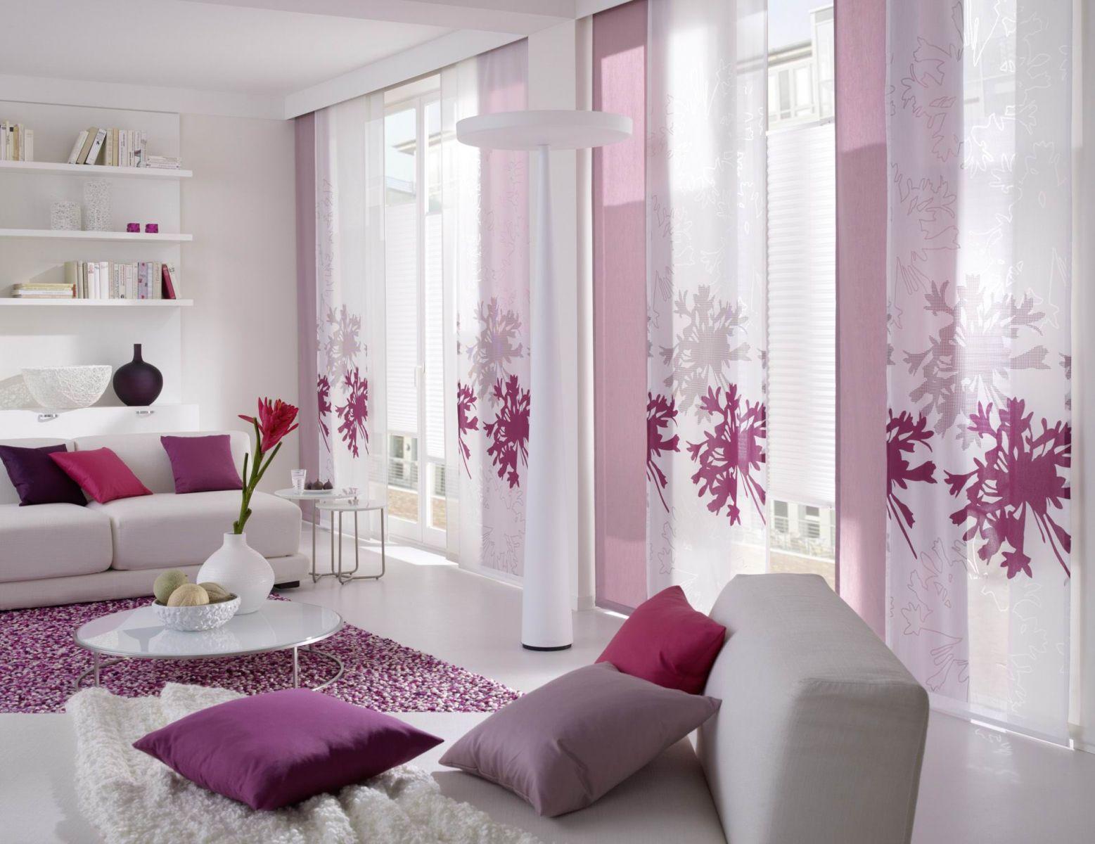 Японские шторы в гостиную