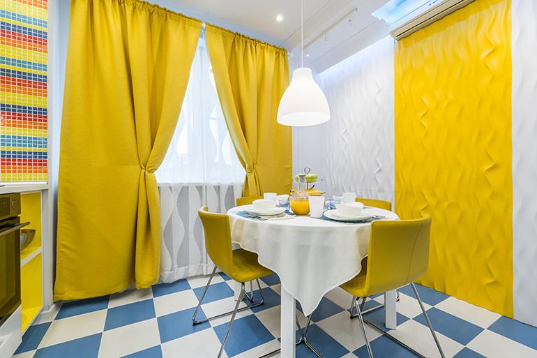 Желтые занавески